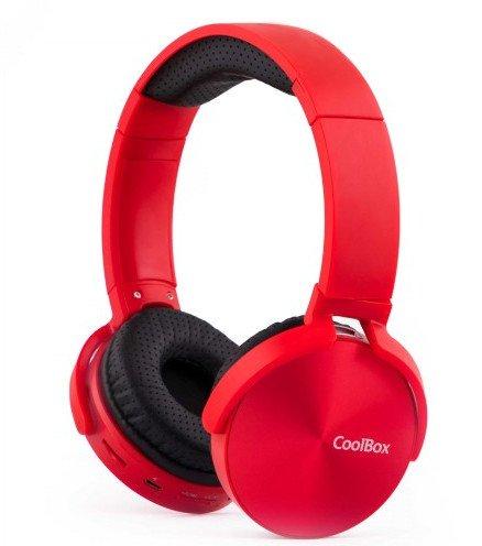 Image of   Coolbox Coolmetal - Trådløs Bluetooth Høretelefoner - Rød