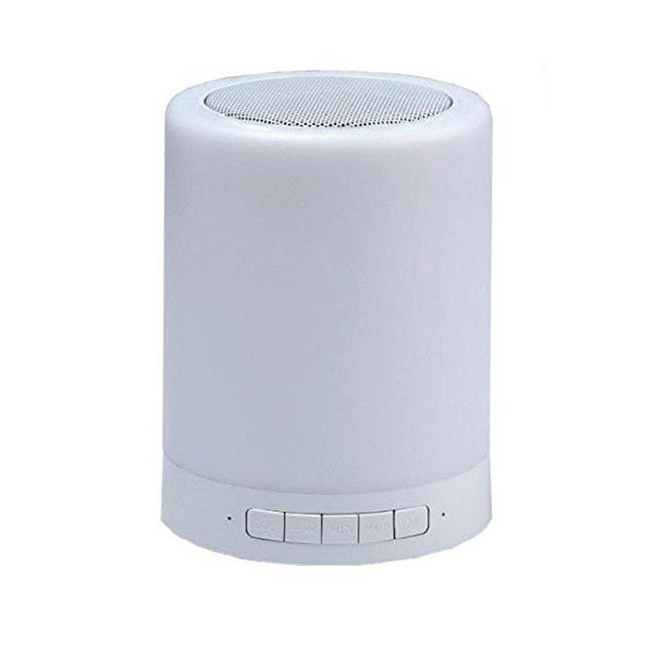 Image of   Coolbox Trådløs Bluetooth Højtaler Med Led-lampe 3w - Hvid