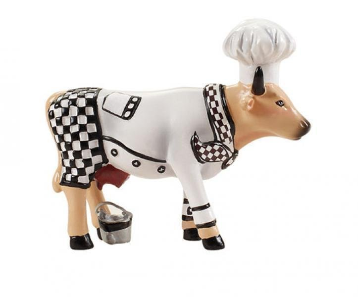 Image of   Cow Parade Ko - Chef Cow / Kokke Ko - Lille - 7 X 6cm