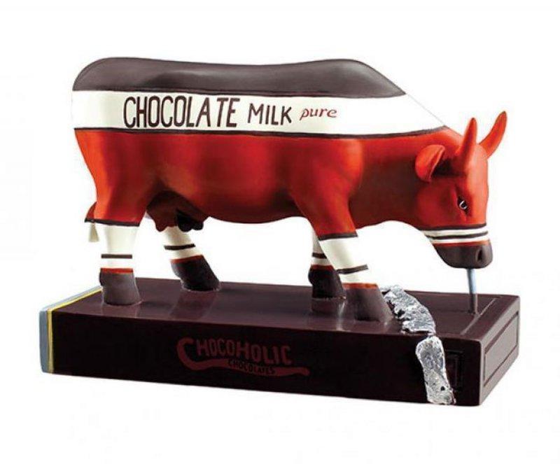 Image of   Cow Parade Ko - Chocoholic - Mellem - 13,5 X 9,5cm