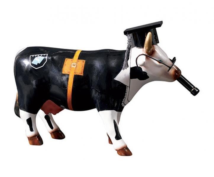 Image of   Cow Parade Ko - Cow Doutora - Mellem - 16,5x11cm