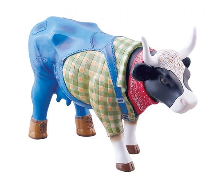 Image of   Cow Parade Ko - Farmer Cow - Mellem - 15 X 9,5 Cm