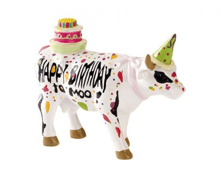 Image of   Cow Parade Ko - Happy Birthday To Moo! - Mini - 7x5,5cm