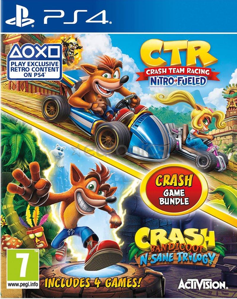 Image of   Crash Team Racing + Crash Bandicoot - Nsane Trilogy - PS4