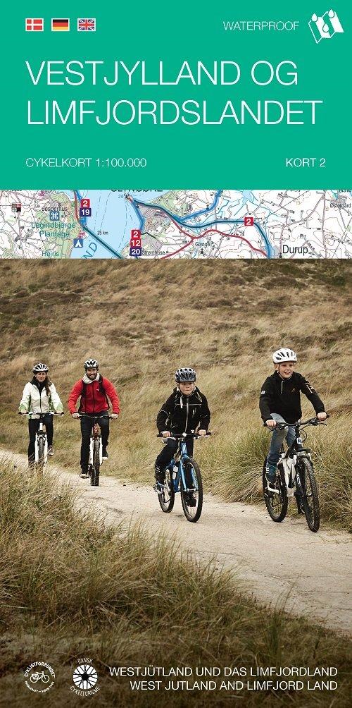 Image of   Cykelkortserie Danmark 2: Vestjylland Og Limfjordslandet - Diverse - Bog