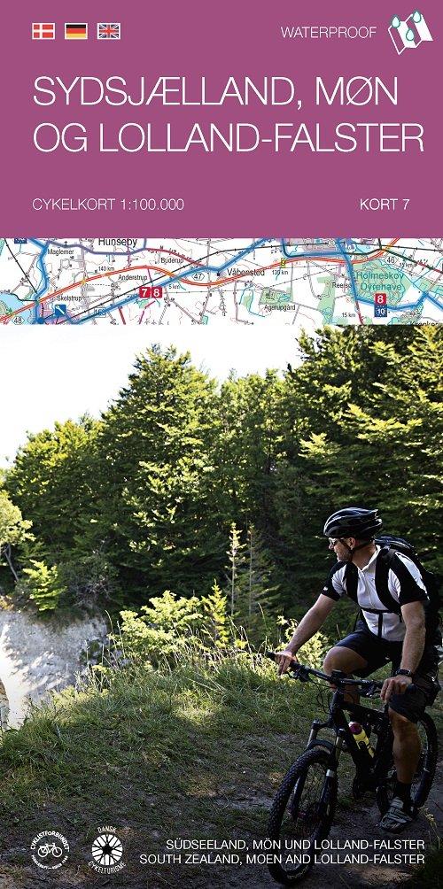 Image of   Cykelkortserie Danmark 7: Sydsjælland, Møn Og Lolland-falster - Bog