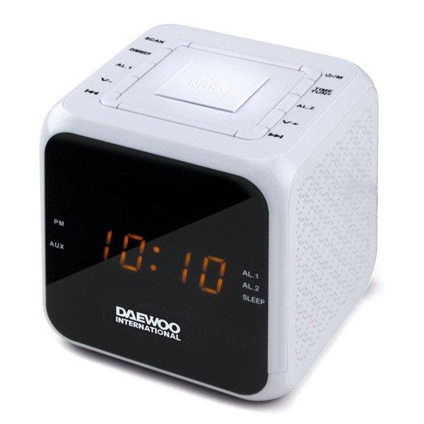 Image of   Daewoo Clockradio Dcr-450 - Fm Radio - Hvid