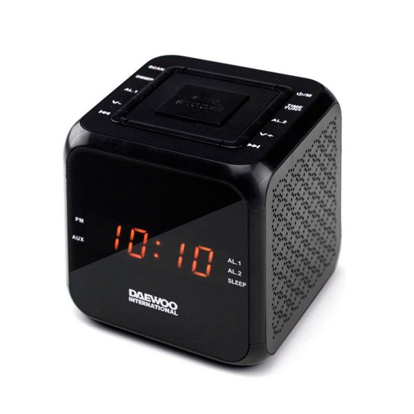 Image of   Daewoo Clockradio Dcr-450 - Fm Radio - Sort