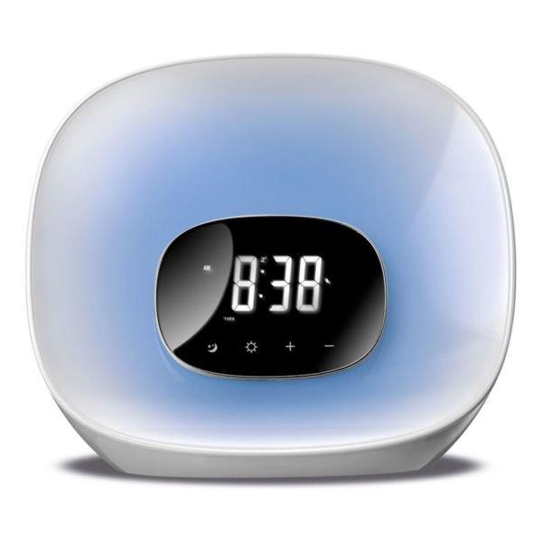 Image of   Daewoo Clockradio Dcr-470 - Fm Radio - Hvid