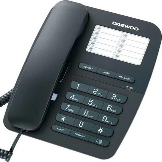 Image of   Daewoo - Fastnet Telefon - Dtc-240 - Sort