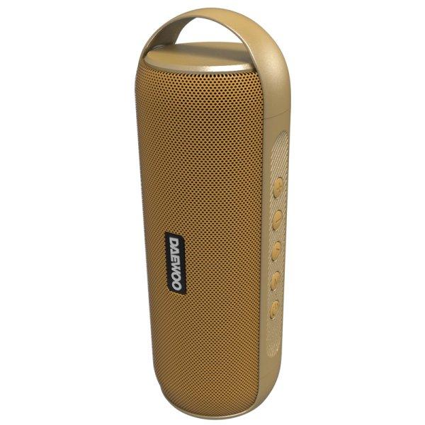 Daewoo – Trådløs Bluetooth Højtaler Dbt-20 – 10 Timer – Guld