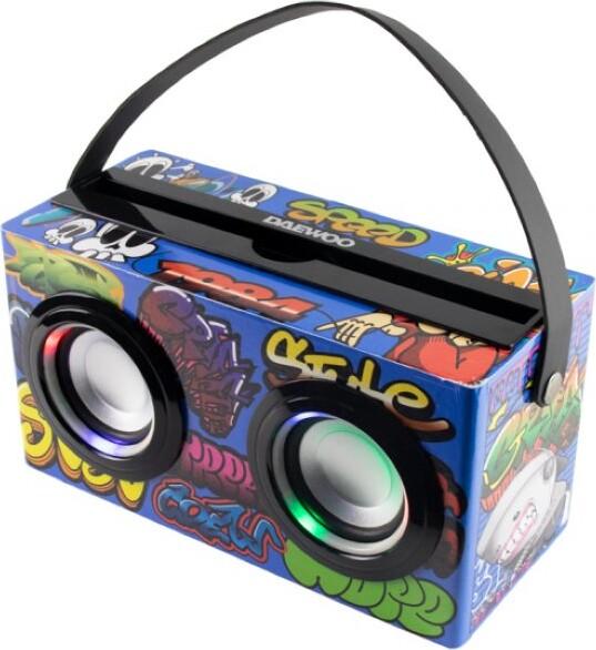 Image of   Daewoo - Trådløs Bluetooth Højtaler Med Karaokemikrofon - Flerfarvet