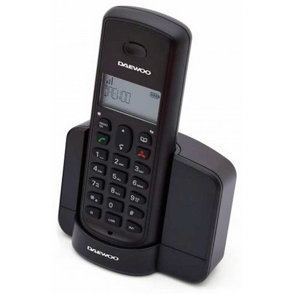 Image of   Daewoo - Trådløs Fastnet Telefon - Dtd-1350 Dect Duo - Sort