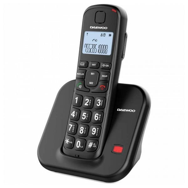Image of   Daewoo - Trådløs Fastnet Telefon - Dtd-7200b - Sort