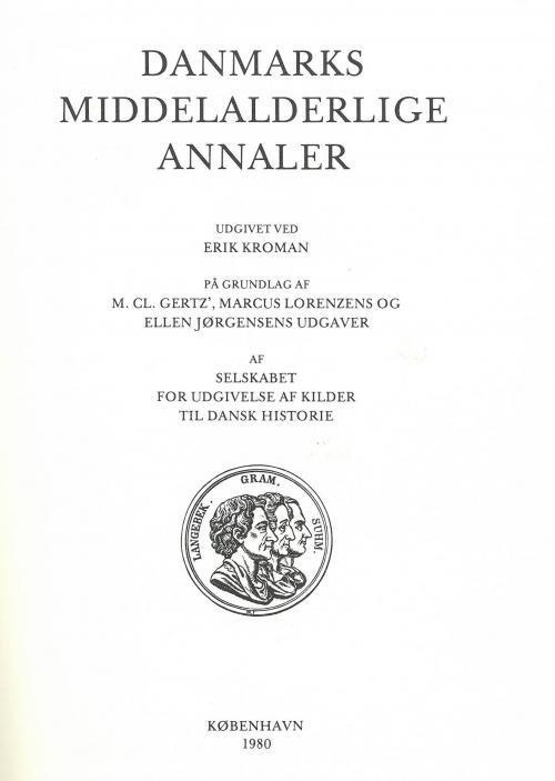 Image of   Danmarks Middelalderlige Annaler - Erik Kromann - Bog