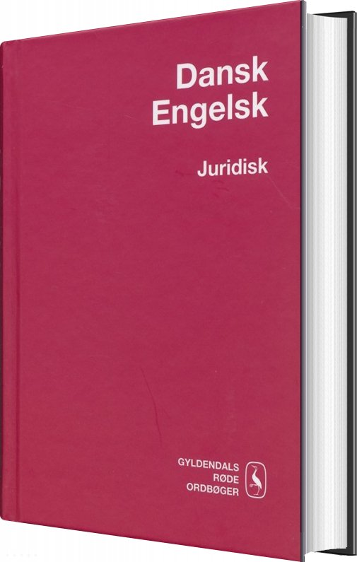 Image of   Dansk-engelsk Juridisk Ordbog - Helle Pals Frandsen - Bog