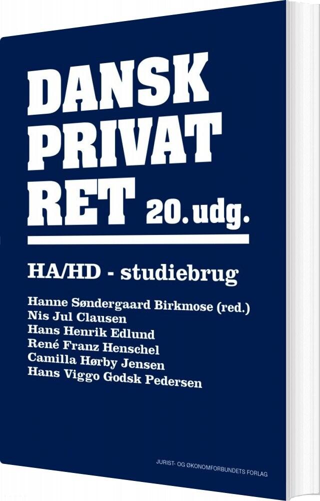 Billede af Dansk Privatret Ha Og Hd - Camilla Hørby Jensen - Bog