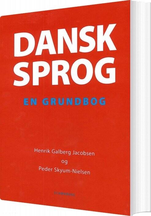 Image of   Dansk Sprog - Henrik Galberg Jacobsen - Bog
