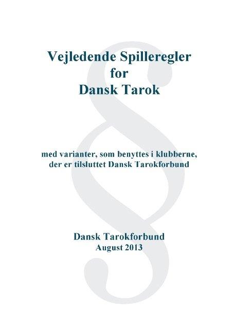 Image of   Dansk Tarok Spil - Madsen Ole Brun - Bog