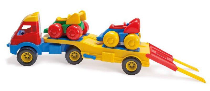 Image of   Dantoy Lastbil Legetøj Med 2 Racerbiler