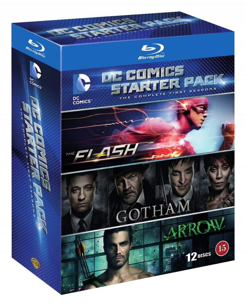 Arrow // The Flash // Gotham - Sæson 1 - Blu-Ray - Tv-serie