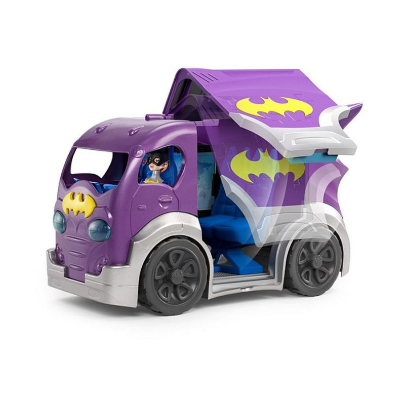 Dc Super Hero Girls Actionfigur - Batgirls Hovedkvarter På Hjul