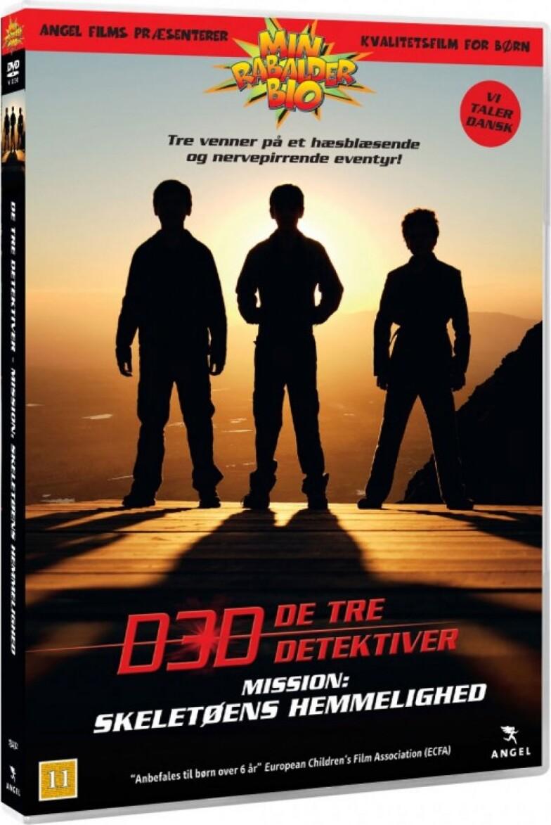 Image of   De 3 Detektiver: Skeletøens Hemmelighed - DVD - Film