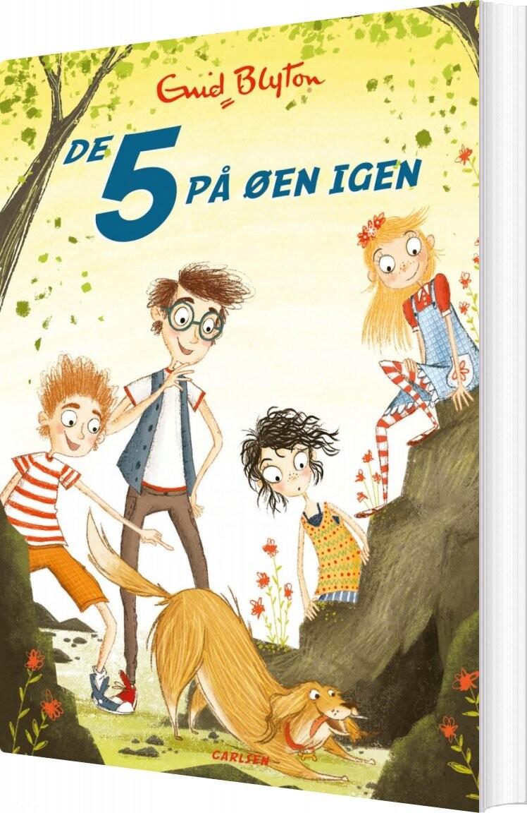 Image of   De 5 På øen Igen - Bind 6 - Enid Blyton - Bog