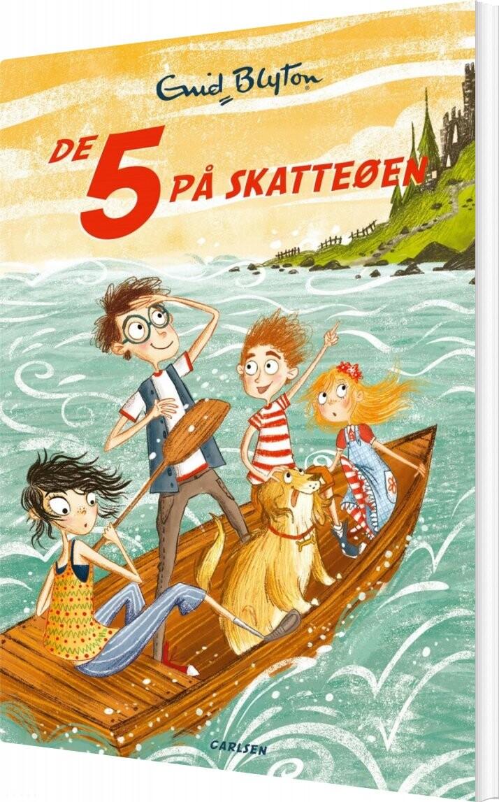Image of   De 5 På Skatteøen - Bind 1 - Enid Blyton - Bog