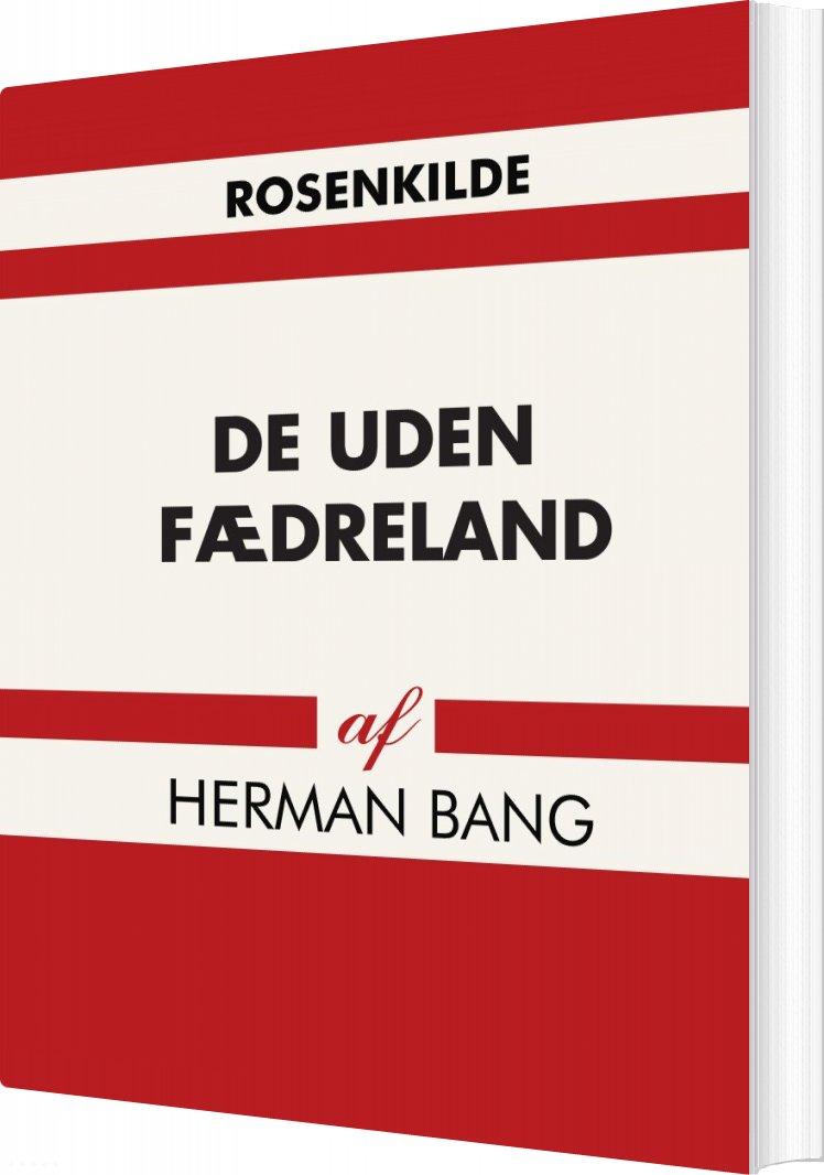 Image of   De Uden Fædreland - Herman Bang - Bog