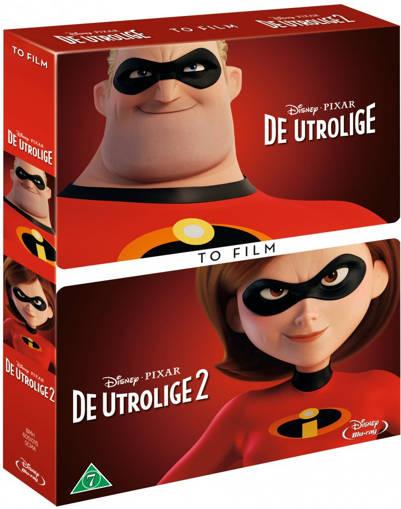 Image of   De Utrolige 1-2 / The Incredibles 1-2 - Disney Pixar - Blu-Ray