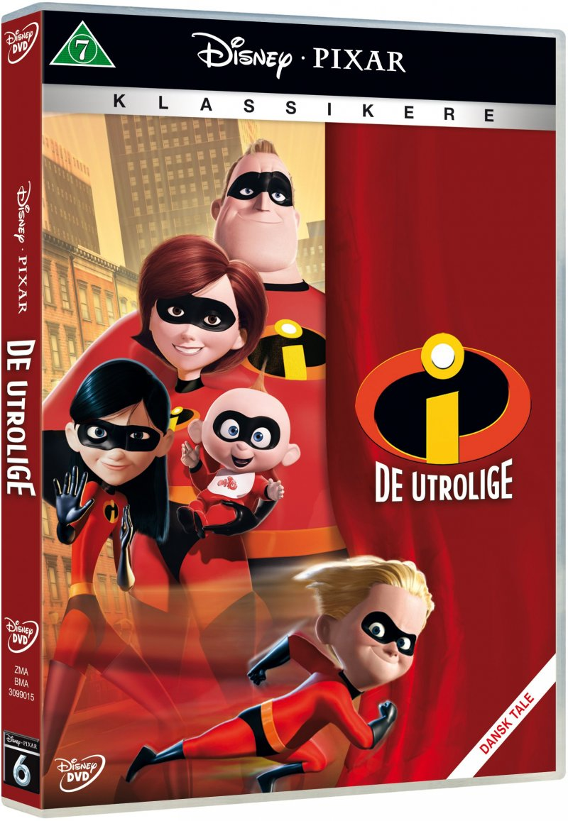 Billede af The Incredibles / De Utrolige - Disney Pixar - DVD - Film