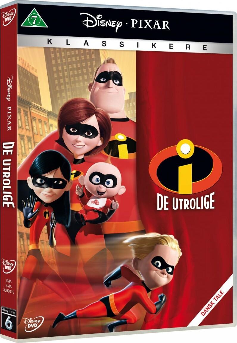 Image of   De Utrolige 1 / The Incredibles 1 - Disney Pixar - DVD - Film