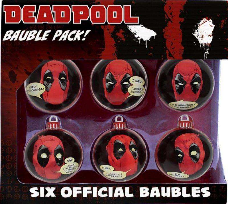 Image of   Deadpool Julekugler - 6 Stk.