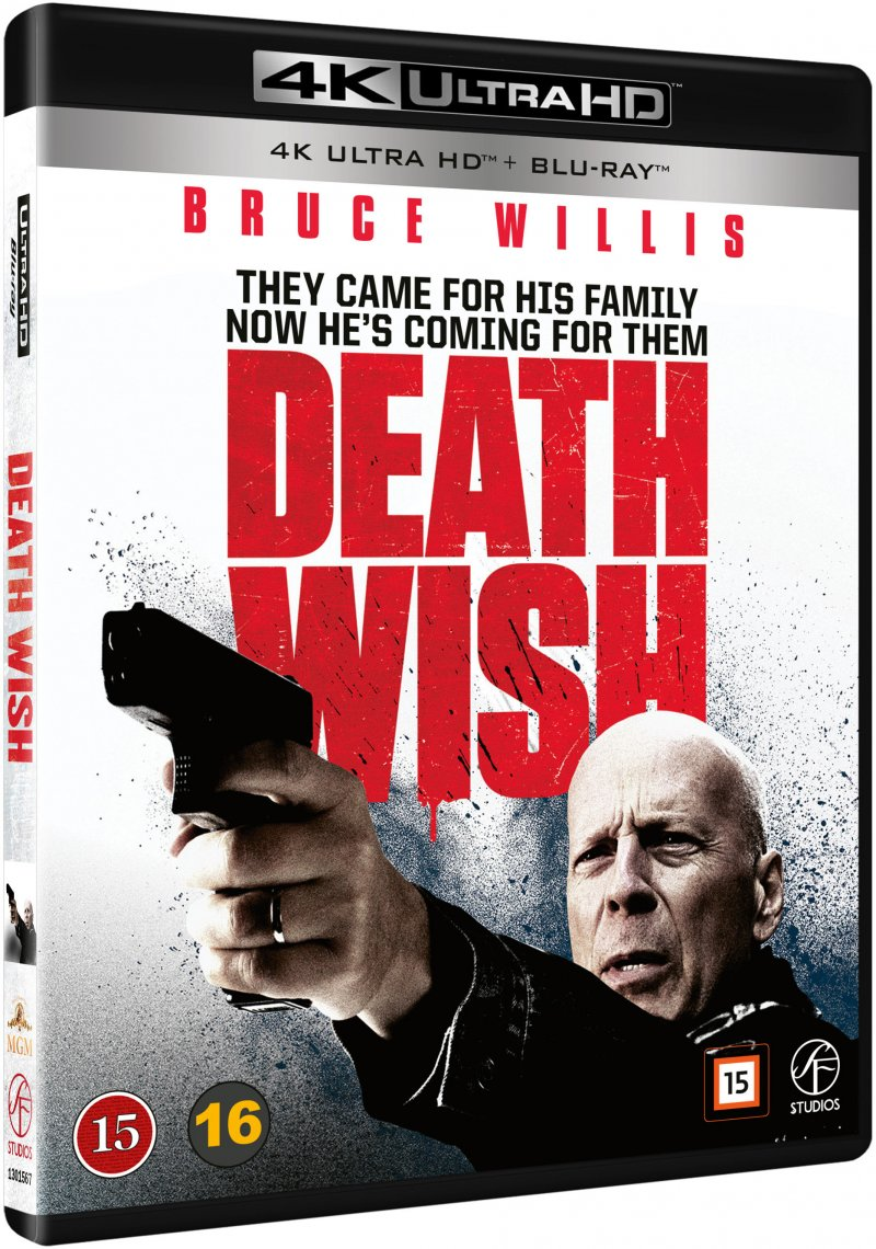 Image of   Death Wish - En Mand Ser Rødt - 4K Blu-Ray