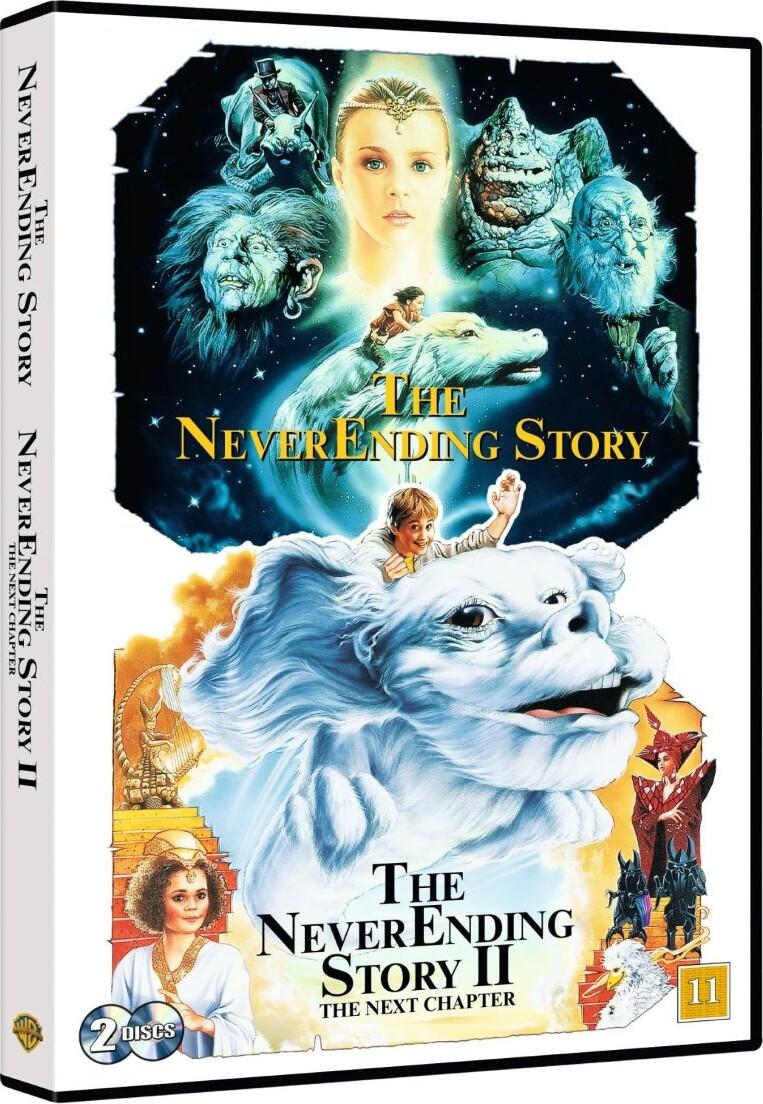 Billede af Den Uendelige Historie / The Never Ending Story 1 + 2 - DVD - Film