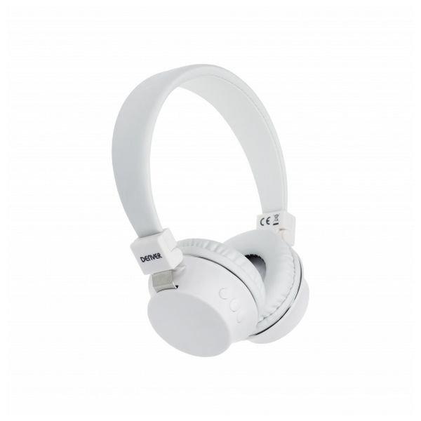Image of   Denver Bth-205 Trådløs Bluetooth Høretelefoner I Hvid