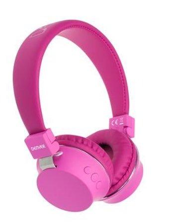Image of   Denver Bth-205 Trådløs Bluetooth Høretelefoner I Pink