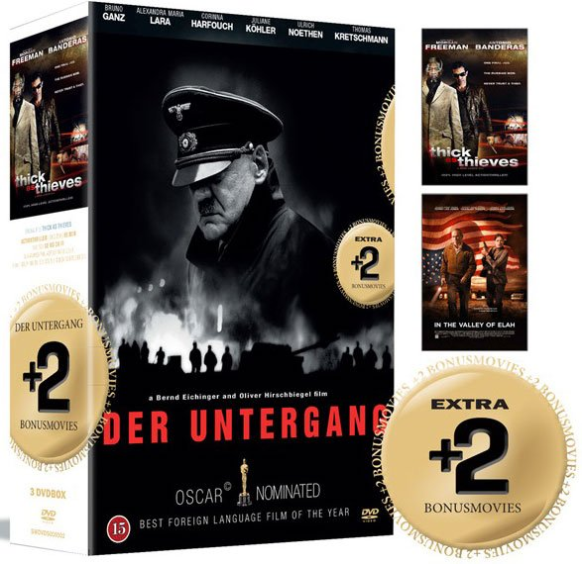 Billede af Der Untergang // Thick As Thieves // In The Valley Of Elah - DVD - Film