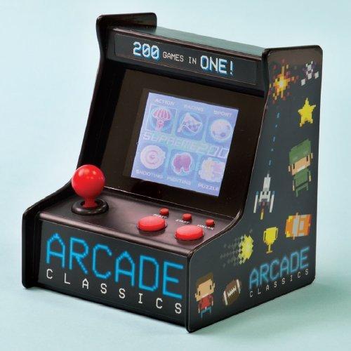 Image of   Desktop Arcade Game - Portabel Spillemaskine Med 200 8-bit Spil