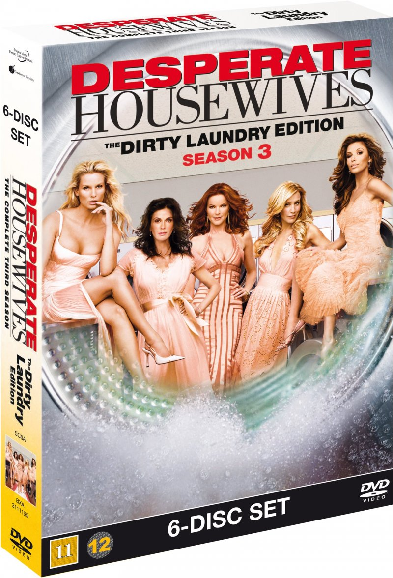 Image of   Desperate Housewives - Sæson 3 - Dirty Laundry Edition - DVD - Tv-serie