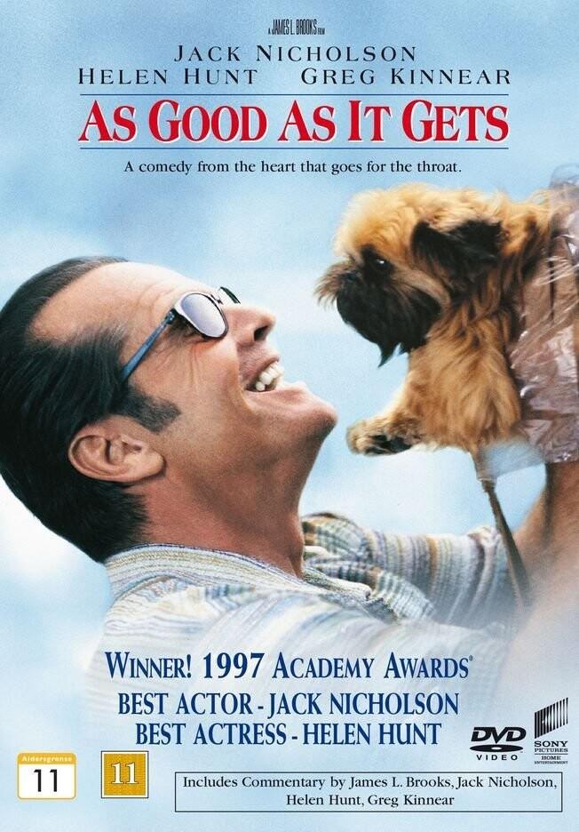 Billede af As Good As It Gets / Det Bliver Ikke Bedre - DVD - Film
