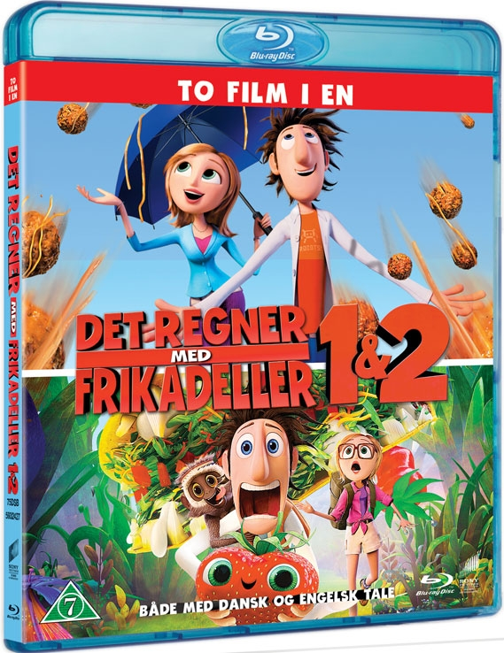 Image of   Det Regner Med Frikadeller / Cloudy With A Chance Of Meatballs 1 + 2 - Blu-Ray