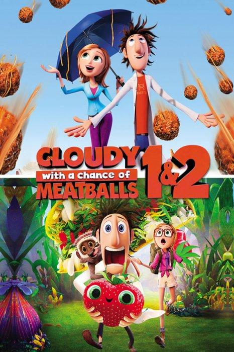 Billede af Det Regner Med Frikadeller / Cloudy With A Chance Of Meatballs 1 + 2 - DVD - Film