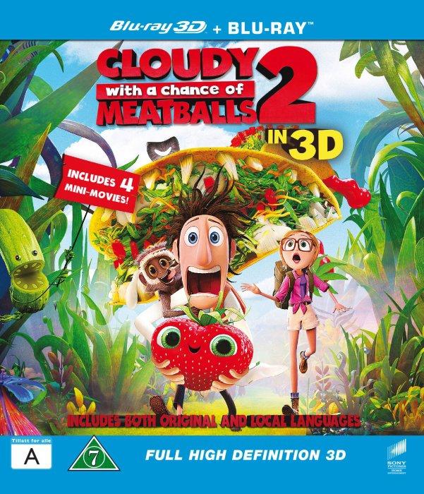 Billede af Det Regner Med Frikadeller 2 / Cloudy With A Chance Of Meatballs 2 - 3D Blu-Ray
