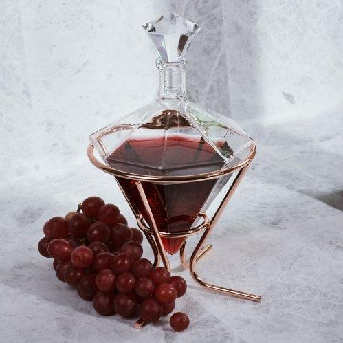Image of   Diamant Vin Karaffel Og Holder