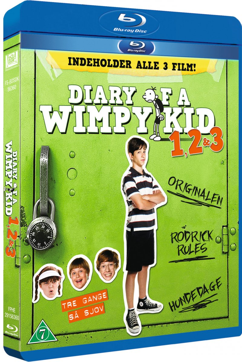 Image of   Diary Of A Wimpy Kid 1-3 - Blu-Ray