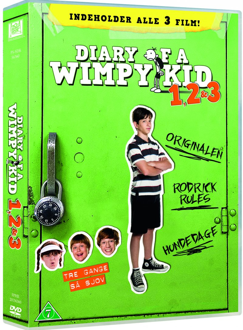 Image of   Diary Of A Wimpy Kid 1-3 - DVD - Film