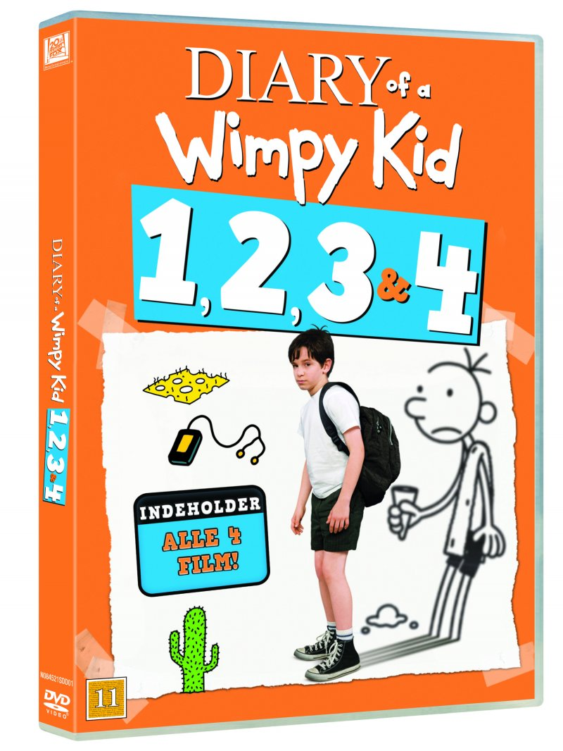 Image of   Diary Of A Wimpy Kid 1-4 - DVD - Film