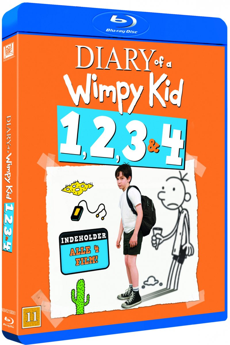 Image of   Diary Of A Wimpy Kid 1-4 - Blu-Ray